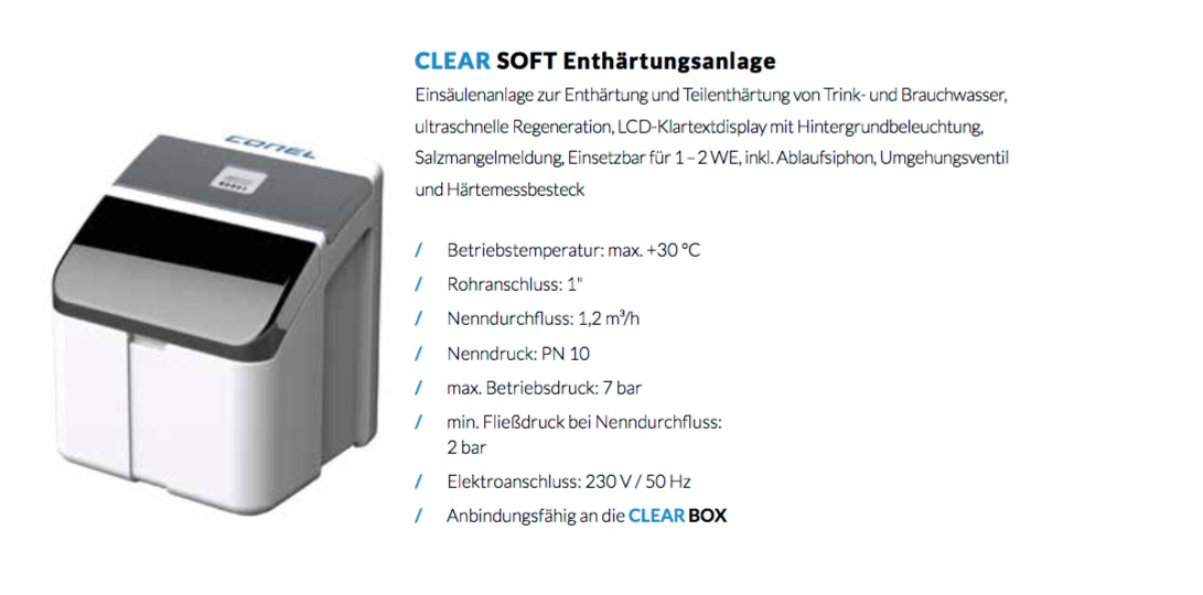 Clear Soft Enthärtungsanlage