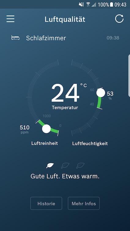 Bosch Smart Home Luftqualität
